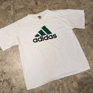 Vintage Adidas Three Stripes Shirt Green Mens L